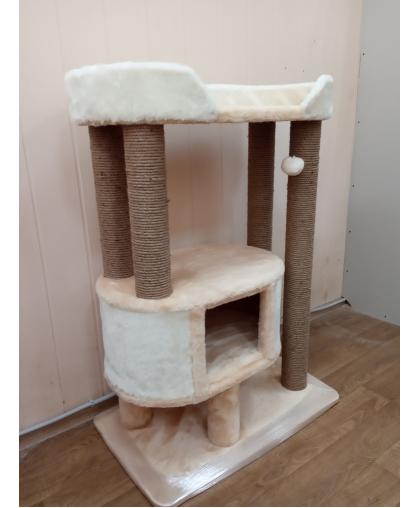 Когтеточка с домиком для мейнкунов и крупных пород кошек (Зоополюс-2020)
