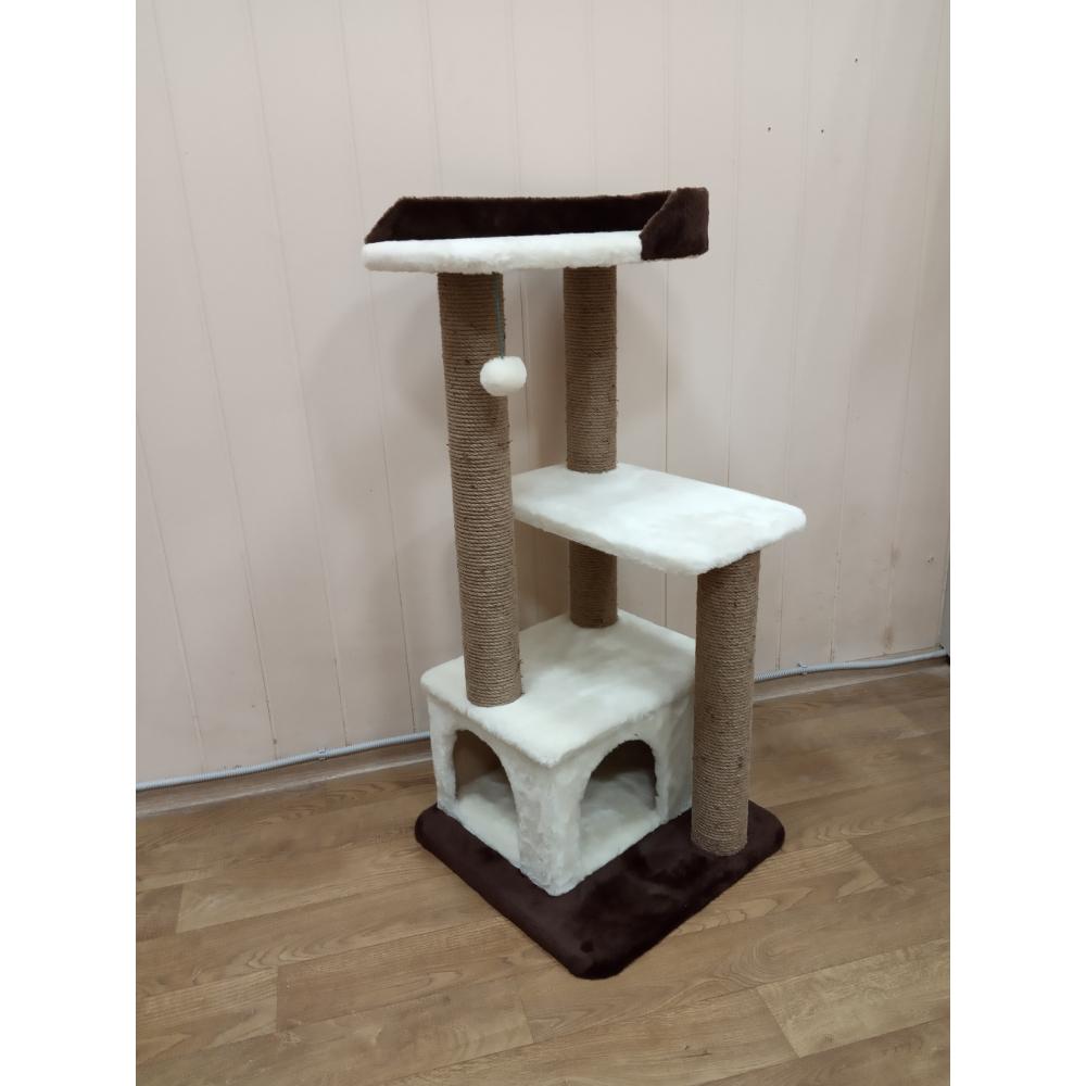 (Арт-306) Комплекс когтеточка с домиком и лежанкой для кошек