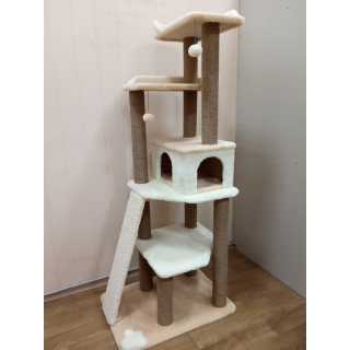 Большие игровые комплексы для одной или нескольких кошек высотой до 210 см с игровыми зонами когтеточками домиками тоннелями гамаками и игрушками