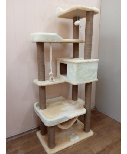 ЗООПОЛЮС-256 Высокий комплекс для кошки с гамаком