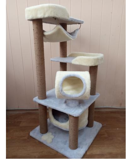 ЗООПОЛЮС-088 Комплекс игровой высота 140 см для кошек