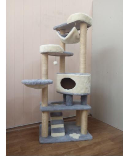 ЗООПОЛЮС-293 Когтеточка игровой комплекс для кошки высота 175 см.