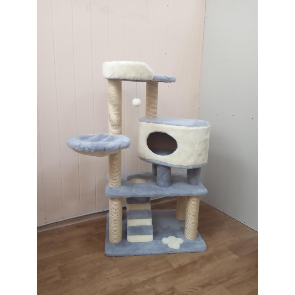 ЗООПОЛЮС-393 Игровая площадка для кошки с домиком и лежанкой высота 142 см