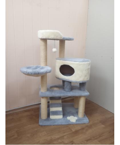 ЗООПОЛЮС-393 Игровая площадка для кошки с домиком и лежанкой