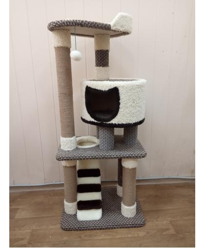 Комплекс игровой для кошки (Арт-399) ковролин