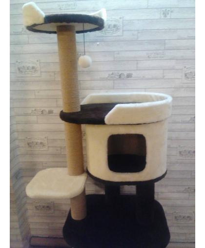 Дом для кошек с лежанкой и шариком (Арт-5)